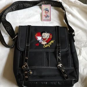 "Handbags - Betty Boop ""Hearts-themed"" Shoulder Bag"